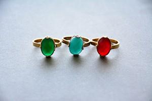 カラーストーン指輪