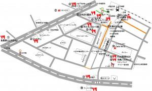 十日市場飲食店マップ